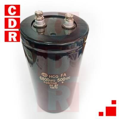 6800uF 500V 105°C ELECTROLYTIC CAPACITOR 75X155MM- SCREW HITACHI