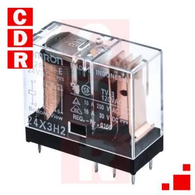 G2R-1-24VDC SPDT 10A 24VDC PCB OMRON