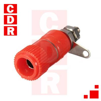 BORNERA BINDING POST 10A 250V ROJO