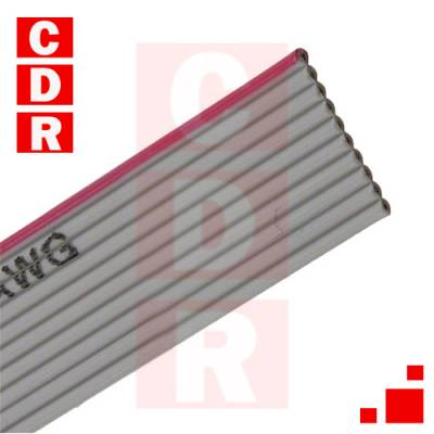 AWG28- 10/G-1/300 CABLE RIBN 10 CONDUCTORES 0,039 GRIS ROLLO X 76,50 MTS