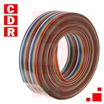 CABLE PLANO COLOR 20 CONDUCTORES (ROLLO 30M)