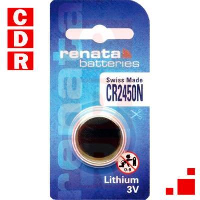 CR2450 LI-MNO2 BATTERY COIN 3V 500MAH
