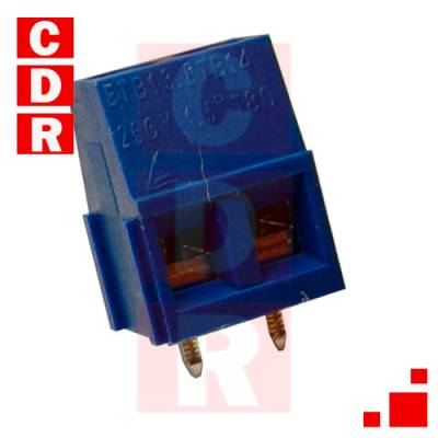 BORNERA 3 VIAS 10A P/PCB 10.3X10X7.6MM PMM PACK X 10UN