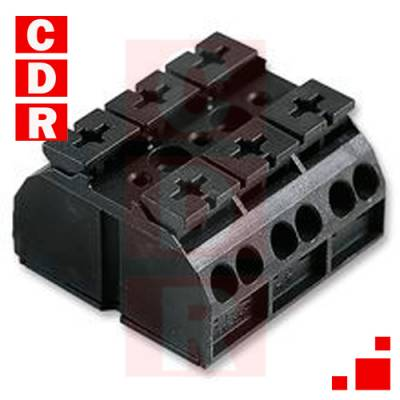 862-503 PANEL MOUNT BARRIER TERMINAL BLOCK, 2 ROW, 3 WAYS, 20 AWG, 12 AWG 32A