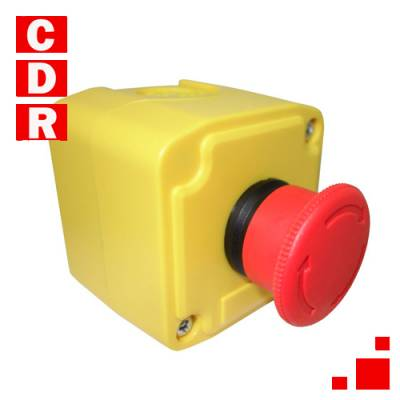 XAL-K174 YELLOW STATION - 1 RED MUSHROOM HEAD PUSHBUTTON D=40MM TURN TO RELEASE 1NCSCHNEIDER ELECTRIC