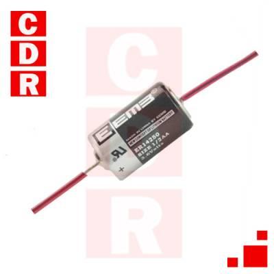 PILA DE LITIO 3.6V 1/2 AA C/TERMINALES ER-14250  MARCA: EEMB