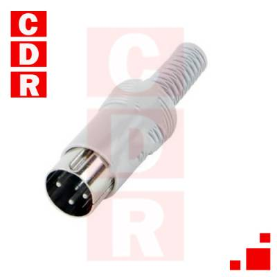 CONNECTOR DIN MALE TO CABLE 3 VIAS 180º 05GM3MX