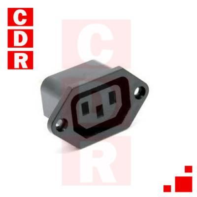 CONECTOR HEMBRA TIPO PC P/CHASIS TORNILLOS