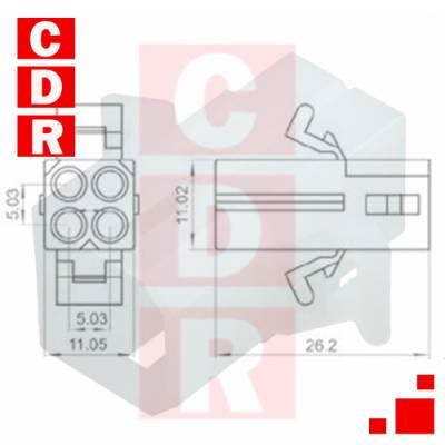 0460-202-16141 PIN CONTACT NICKEL CRIMP 16-20 AWG POWER, MACHINED TE