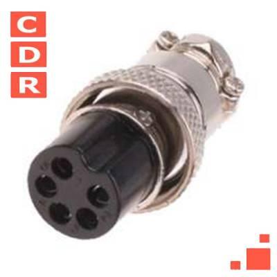 CONECTOR DE MICROFONO BC 5P HEMBRA/CABLE