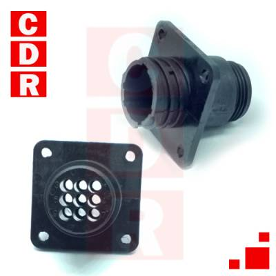 206705-1 CUIRCULAR CONNECTOR , CPC SERIES 1, PANEL MOUNT RECEPTACLE, 9 CONTACTS TERMOPLASTIC AMP - TE CONNECTIVITY