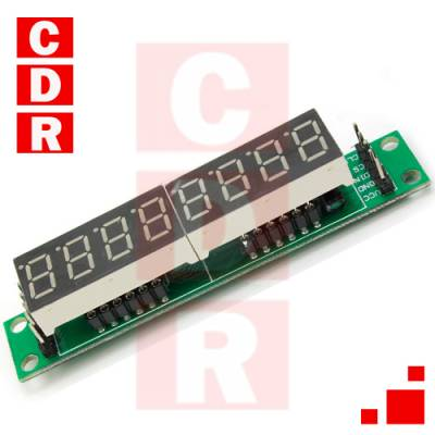 8 DIGIT DISPLAY - MAX7219 ARDUINO
