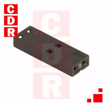50-57-9002 2 POSITION RECTANGULAR HOUSING CONNECTOR RECEPTACLE BLACK 0.100