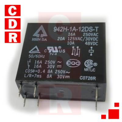 942H-1A-12DS-T RELAY HSINDA
