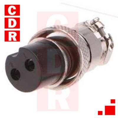 CONECTOR DE MICROFONO BC 2P HEMBRA/CABLE