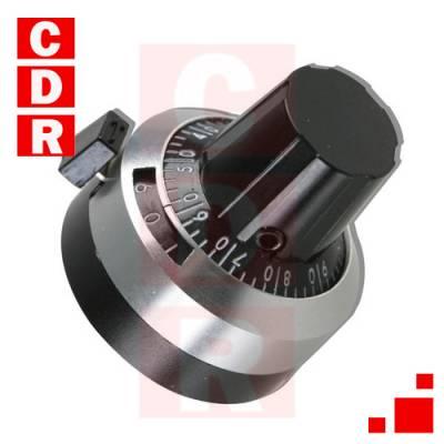 DIAL CUENTA VUELTAS 0-15VTAS DIAM.22MM METALICO H506