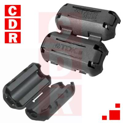 ZCAT1325 - 0530 CLIP WITH FERRITE NUCLEUS FOR CABLE 2X1 MARCA: TDK