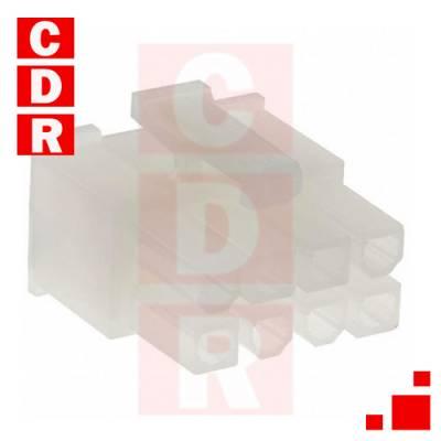 39-01-2080 MINI-FIT JR. RECEPTACLE HOUSING DUAL ROW 8 CIRCUITS (2X4) OEM