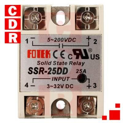 SSR-25DD 25A SOLID STATE RELAY MODULE DC3-32V TO DC 5-200V FOTEK