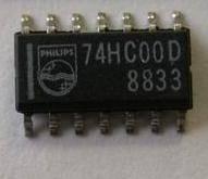 74HC00DR CMOS QUAD 2-INPUT POSITIVE NAND-GATES SOIC-14 CASE