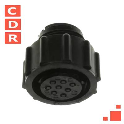 205838-1 8 POSITION CIRCULAR CONNECTOR PLUG FOR FEMALE CONTACTS FREE HANGING AMP