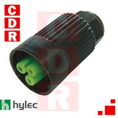 THB-384-B1A TEE PLUG POWER SOCKET 3 POLE SCREW TERMINAL 7MM TO 12MM CABLE DIAMETER HYLEC4MM MAX CONDUCTOR SIZE IP66-68 17A 450V 1 CABLE ENTRY ASSEMBLED