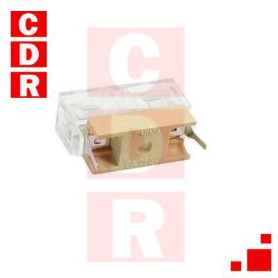 PORTAFUSIBLE CUNITA P/CI 30X6MM 6A 250V C/TAPA