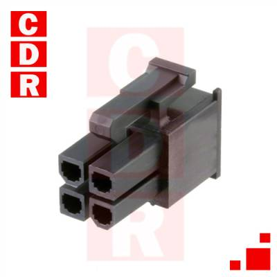 39-03-9042 4 POSITION RECTANGULAR HOUSING CONNECTOR RECEPTACLE BLACK 0.165
