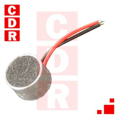 CÁPSULA DE MICRÓFONO ELECTRET D=9.7MM/H=6.5MM -64DB ECM-60W C/CABLES