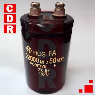 ELECTROLITYC CAPACITOR 22000UF 50V 105º 80X50MM HITACHI