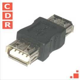 ADAPTADOR USB TIPO A HEMBRA HEMBRA