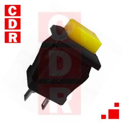 LLAVE PULSADOR N/A CUADRADO ROJO S/RETENCION 14X14MM