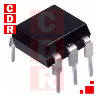 4N28 OPTOCOUPLER, PHOTOTRANSISTOR OUTPUT 30V 10% DIP-6 CASE