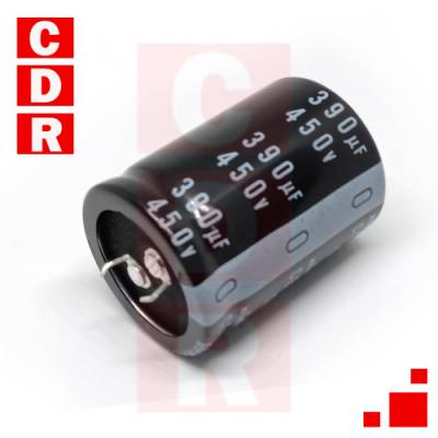 CAPACITOR ELECTROLITICO 390UF 450V 105°C 35X45MM