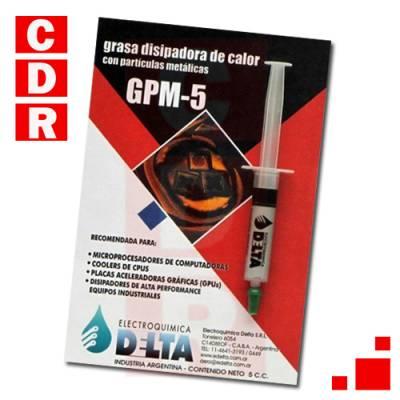 GRASA DISIPADORA DE CALOR CON PARTICULAS METALICAS 5CC JERINGA GPM-5 DELTA