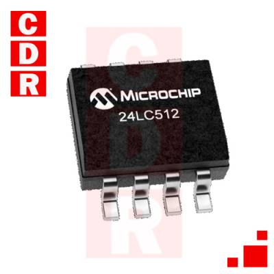 24LC512T-E/SM EEPROM 64KX8 - 2.5V SOIC-8 CASE MICROCHIP
