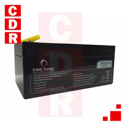 BATERIA DE GEL 12V 3.3AH (134X67X61) SAFETY ENERGY