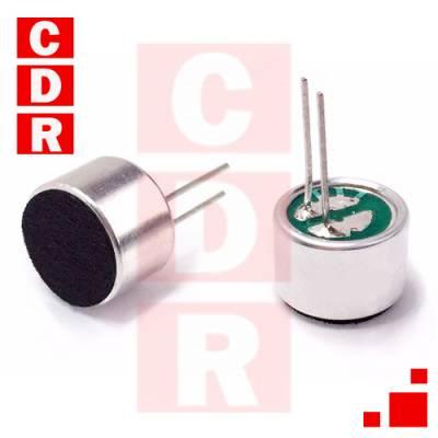 CÁPSULA DE MICRÓFONO ELECTRET D=9.7MM/H=6.5MM -64DB ECM-60P P/C.I.