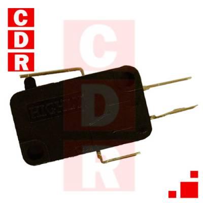 LLAVE MICROSWITCH 10A 250V P/CABLE LEVA SUPER CORTA (14MM)