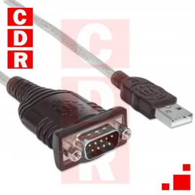 CABLE ADAPTADOR USB A SERIAL RS232 MANHATTAN