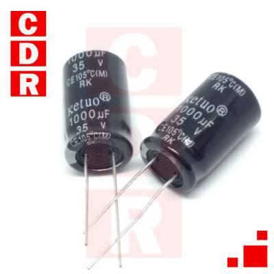 CAP. ELECTR. RADIAL 1000UF 35V 13X20