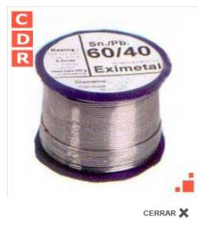 ESTAÑO 60/40 2.5MM 1/4KG EXIMETAL