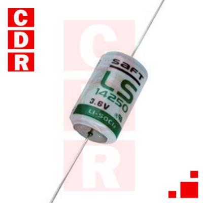 PILA DE LITIO 3.6V 1/2 AA C/TERMINALES LS-14250 MARCA: SAFT