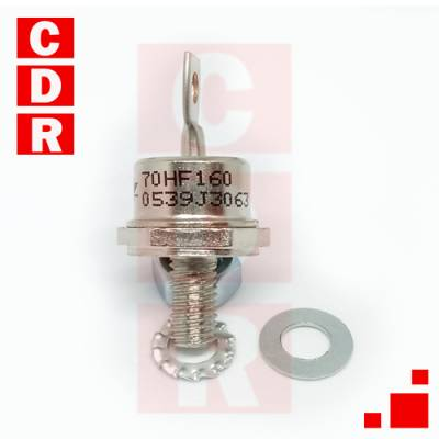70HF160 RECTIFICADOR 1600 V 70 AMP MARCA IR