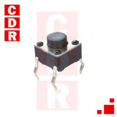 TS062 (TS-2) TACT SWITCH 2P SPST MOM. 50MA 12V 6X6X5MM