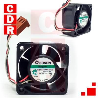 GM0504PKVX-8A FAN 5V WITH 3 CABLE WIRE 40X40X20MM SUNON