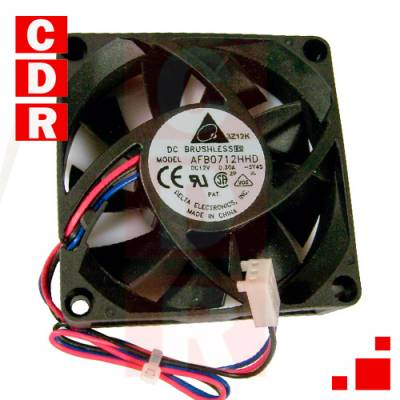 AFB0712HHD FAN AXIAL 70X70X20MM 12VDC WIRE-BALL DELTA
