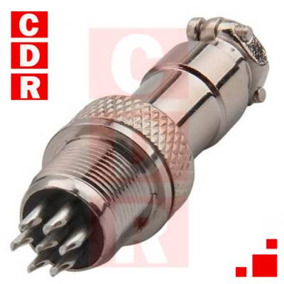 GX12-7 CONECTOR MALE CHASIS