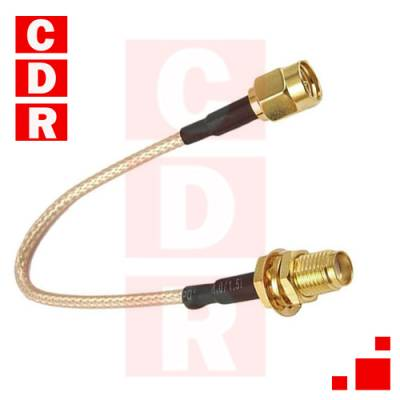 ANTENNA ADAPTER SMA FEMALE TO MCX MALE COAXIAL CABLE 11CM