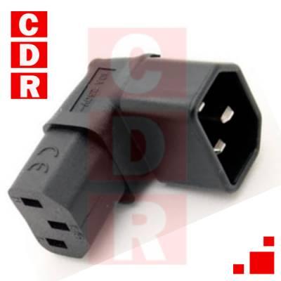 CONECTOR IEC C13 90º  COATED